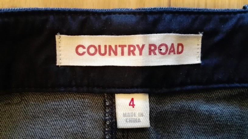 COUNTRY ROAD Dark Blue-Wash Denim Skirt - SIZE 8 APPROX | eBay