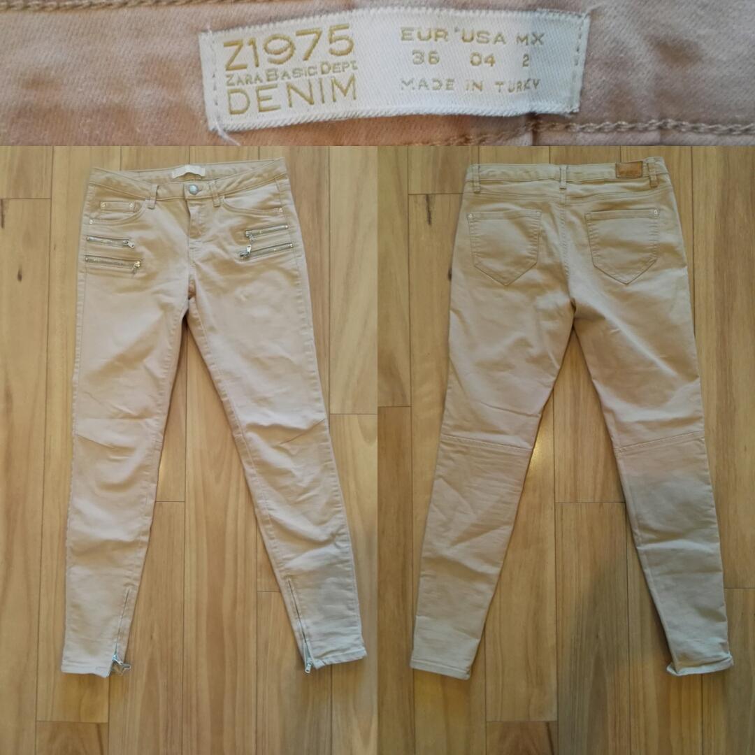 a594a537 ZARA DENIM Beige Skinny Jeans - SIZE 8 APPROX - Preloved for Relove
